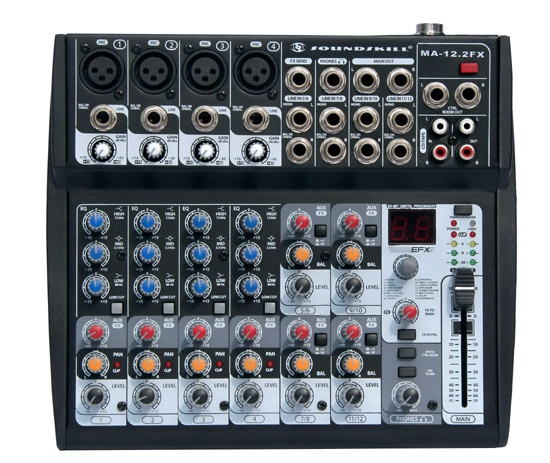 12 channel samll Audio Mixer