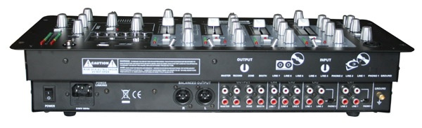 4 channel DJ Mixer with USB & SD card slot & LCD display